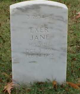 WALL, EXER JANE - Pulaski County, Arkansas | EXER JANE WALL - Arkansas Gravestone Photos