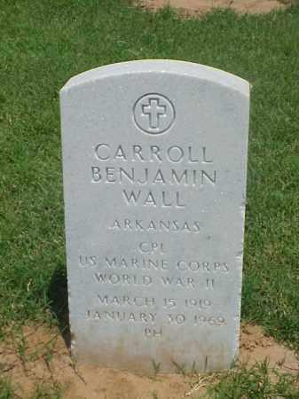 WALL (VETERAN WWII), CARROLL BENJAMIN - Pulaski County, Arkansas   CARROLL BENJAMIN WALL (VETERAN WWII) - Arkansas Gravestone Photos