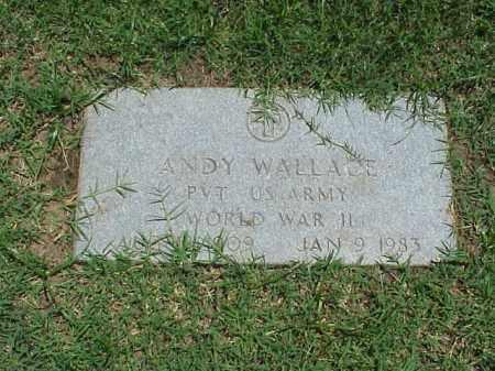 WALLACE (VETERAN WWII), ANDY - Pulaski County, Arkansas | ANDY WALLACE (VETERAN WWII) - Arkansas Gravestone Photos