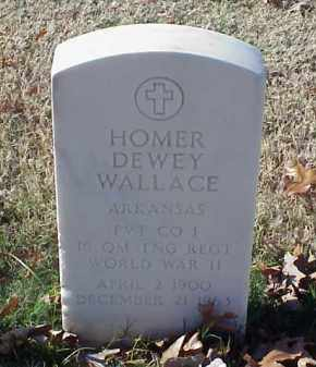 WALLACE (VETERAN WWII), HOMER DEWEY - Pulaski County, Arkansas   HOMER DEWEY WALLACE (VETERAN WWII) - Arkansas Gravestone Photos