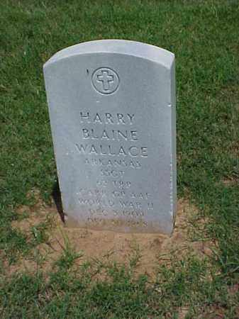WALLACE (VETERAN WWII), HARRY BLAINE - Pulaski County, Arkansas | HARRY BLAINE WALLACE (VETERAN WWII) - Arkansas Gravestone Photos