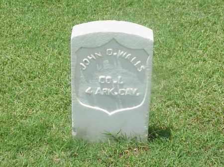 WALLS (VETERAN UNION), JOHN D - Pulaski County, Arkansas   JOHN D WALLS (VETERAN UNION) - Arkansas Gravestone Photos