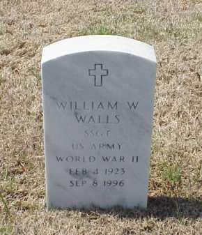 WALLS (VETERAN WWII), WILLIAM W - Pulaski County, Arkansas | WILLIAM W WALLS (VETERAN WWII) - Arkansas Gravestone Photos