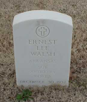 WALSH  (VETERAN KOR), ERNEST LEE - Pulaski County, Arkansas | ERNEST LEE WALSH  (VETERAN KOR) - Arkansas Gravestone Photos