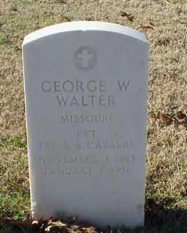 WALTER (VETERAN WWI), GEORGE W - Pulaski County, Arkansas | GEORGE W WALTER (VETERAN WWI) - Arkansas Gravestone Photos