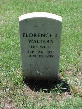 WALTERS, FLORENCE L - Pulaski County, Arkansas | FLORENCE L WALTERS - Arkansas Gravestone Photos