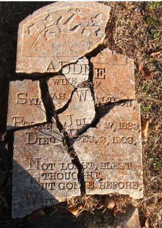 WALTON, ADDIE - Pulaski County, Arkansas   ADDIE WALTON - Arkansas Gravestone Photos