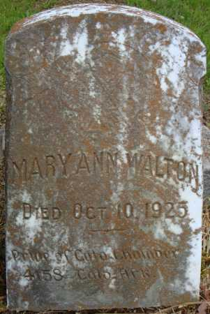 WALTON, MARY ANN - Pulaski County, Arkansas | MARY ANN WALTON - Arkansas Gravestone Photos