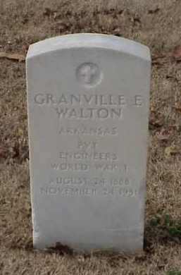 WALTON (VETERAN WWI), GRANVILLE E - Pulaski County, Arkansas | GRANVILLE E WALTON (VETERAN WWI) - Arkansas Gravestone Photos