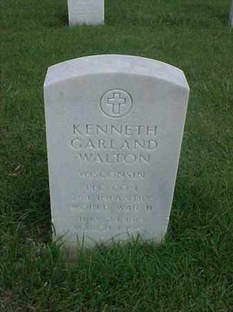 WALTON (VETERAN WWII), KENNETH GARLAND - Pulaski County, Arkansas   KENNETH GARLAND WALTON (VETERAN WWII) - Arkansas Gravestone Photos