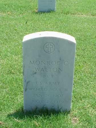 WALTON (VETERAN WWII), MONROE C - Pulaski County, Arkansas | MONROE C WALTON (VETERAN WWII) - Arkansas Gravestone Photos