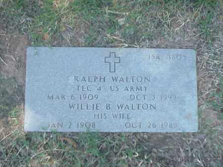 WALTON (VETERAN WWII), RALPH - Pulaski County, Arkansas | RALPH WALTON (VETERAN WWII) - Arkansas Gravestone Photos