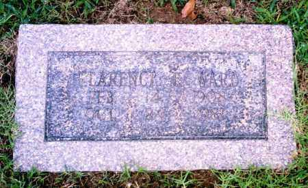 WARD, CLARENCE E. - Pulaski County, Arkansas   CLARENCE E. WARD - Arkansas Gravestone Photos