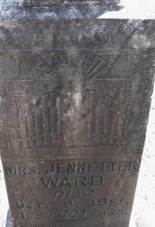 WARD, JENNETTER - Pulaski County, Arkansas   JENNETTER WARD - Arkansas Gravestone Photos