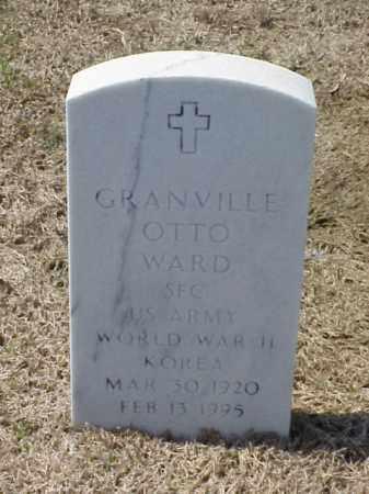 WARD (VETERAN 2 WARS), GRANVILLE OTTO - Pulaski County, Arkansas   GRANVILLE OTTO WARD (VETERAN 2 WARS) - Arkansas Gravestone Photos