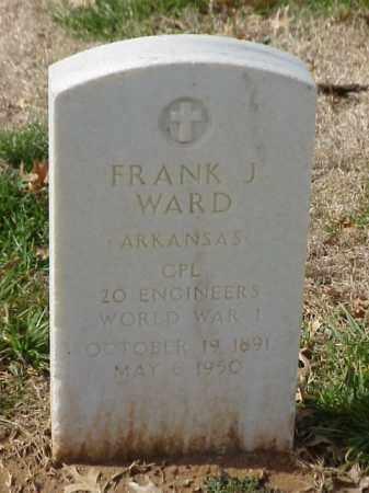 WARD (VETERAN WWI), FRANK J - Pulaski County, Arkansas   FRANK J WARD (VETERAN WWI) - Arkansas Gravestone Photos
