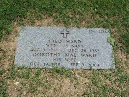 WARD (VETERAN WWII), FRED - Pulaski County, Arkansas | FRED WARD (VETERAN WWII) - Arkansas Gravestone Photos