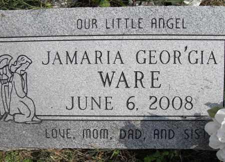 WARE, JAMARIA GEOR'GIA - Pulaski County, Arkansas | JAMARIA GEOR'GIA WARE - Arkansas Gravestone Photos