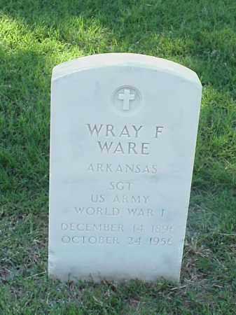 WARE (VETERAN WWI), WRAY F - Pulaski County, Arkansas | WRAY F WARE (VETERAN WWI) - Arkansas Gravestone Photos