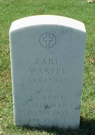 WARFEL (VETERAN WWI), EARL - Pulaski County, Arkansas | EARL WARFEL (VETERAN WWI) - Arkansas Gravestone Photos