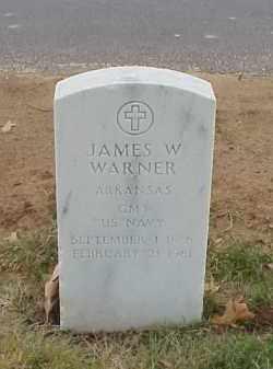 WARNER  (VETERAN), JAMES W - Pulaski County, Arkansas   JAMES W WARNER  (VETERAN) - Arkansas Gravestone Photos