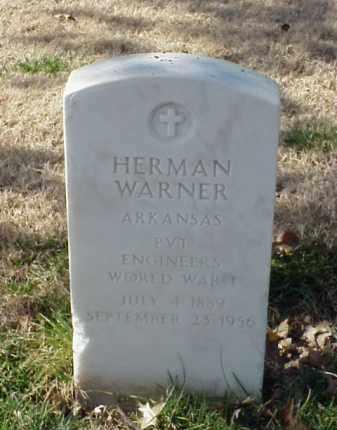 WARNER (VETERAN WWI), HERMAN - Pulaski County, Arkansas | HERMAN WARNER (VETERAN WWI) - Arkansas Gravestone Photos