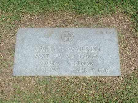 WARREN (VETERAN 2 WARS), JOHN T - Pulaski County, Arkansas   JOHN T WARREN (VETERAN 2 WARS) - Arkansas Gravestone Photos