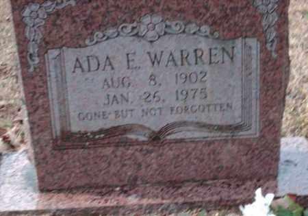 WARREN, ADA E - Pulaski County, Arkansas   ADA E WARREN - Arkansas Gravestone Photos