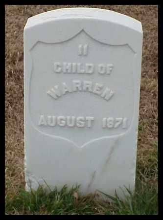 WARREN, CHILD - Pulaski County, Arkansas | CHILD WARREN - Arkansas Gravestone Photos