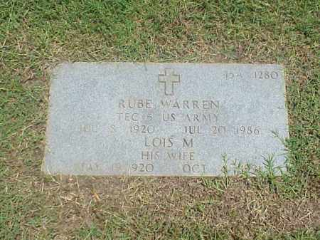 WARREN (VETERAN WWII), RUBE - Pulaski County, Arkansas | RUBE WARREN (VETERAN WWII) - Arkansas Gravestone Photos