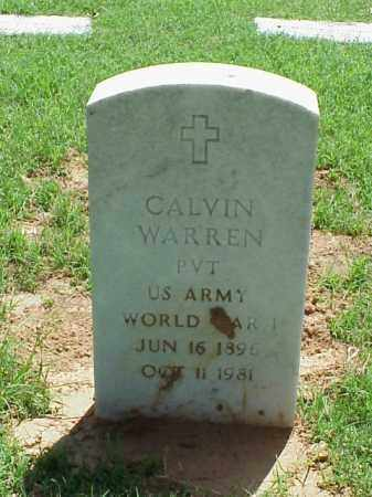 WARREN (VETERAN WWI), CALVIN - Pulaski County, Arkansas | CALVIN WARREN (VETERAN WWI) - Arkansas Gravestone Photos