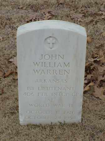 WARREN (VETERAN WWII), JOHN WILLIAM - Pulaski County, Arkansas | JOHN WILLIAM WARREN (VETERAN WWII) - Arkansas Gravestone Photos