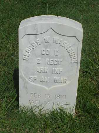 WASHBURN (VETERAN SAW), GEORGE W - Pulaski County, Arkansas | GEORGE W WASHBURN (VETERAN SAW) - Arkansas Gravestone Photos
