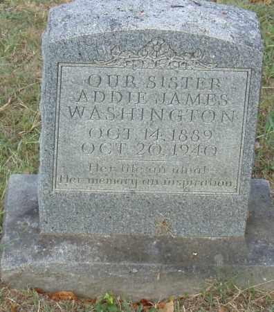 JAMES WASHINGTON, ADDIE - Pulaski County, Arkansas | ADDIE JAMES WASHINGTON - Arkansas Gravestone Photos