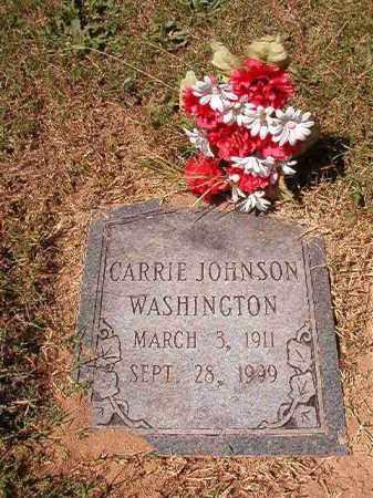 JOHNSON WASHINGTON, CARRIE - Pulaski County, Arkansas | CARRIE JOHNSON WASHINGTON - Arkansas Gravestone Photos