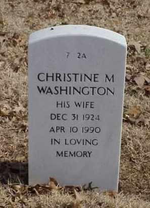 WASHINGTON, CHRISTINE M. - Pulaski County, Arkansas | CHRISTINE M. WASHINGTON - Arkansas Gravestone Photos