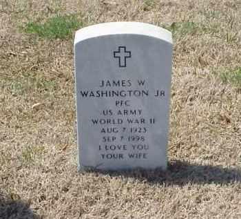 WASHINGTON, JR (VETERAN WWII), JAMES W - Pulaski County, Arkansas | JAMES W WASHINGTON, JR (VETERAN WWII) - Arkansas Gravestone Photos