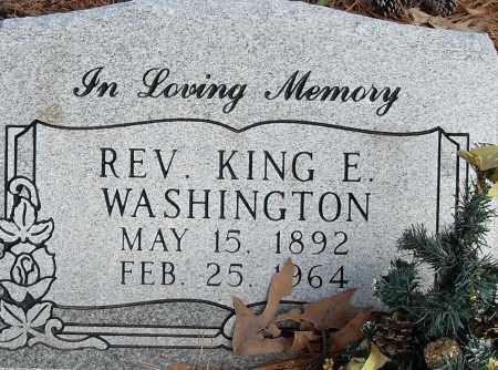 WASHINGTON REV, KING E - Pulaski County, Arkansas | KING E WASHINGTON REV - Arkansas Gravestone Photos