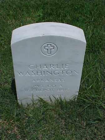 WASHINGTON (VETERAN WWI), CHARLIE - Pulaski County, Arkansas | CHARLIE WASHINGTON (VETERAN WWI) - Arkansas Gravestone Photos