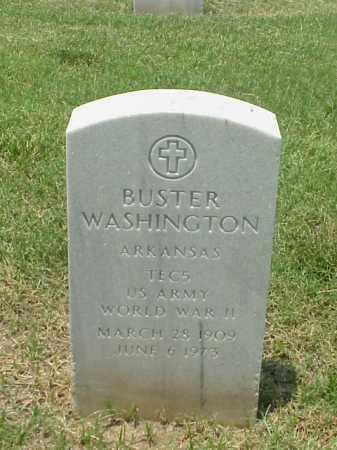 WASHINGTON (VETERAN WWII), BUSTER - Pulaski County, Arkansas | BUSTER WASHINGTON (VETERAN WWII) - Arkansas Gravestone Photos