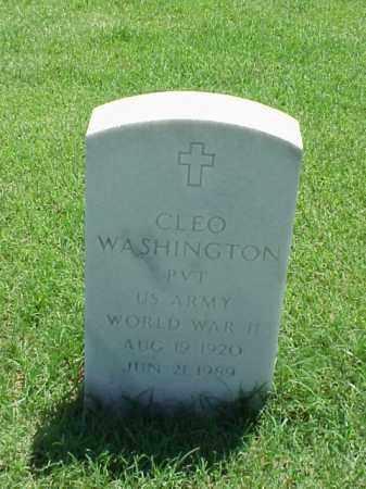 WASHINGTON (VETERAN WWII), CLEO - Pulaski County, Arkansas | CLEO WASHINGTON (VETERAN WWII) - Arkansas Gravestone Photos