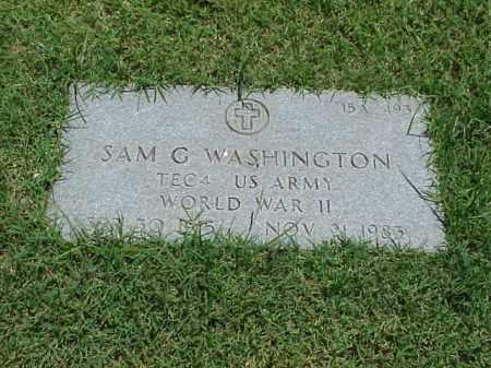 WASHINGTON (VETERAN WWII), SAM G - Pulaski County, Arkansas | SAM G WASHINGTON (VETERAN WWII) - Arkansas Gravestone Photos