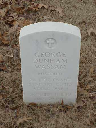WASSAM (VETERAN WWI), GEORGE DUNHAM - Pulaski County, Arkansas | GEORGE DUNHAM WASSAM (VETERAN WWI) - Arkansas Gravestone Photos