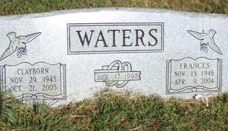 WATERS, FRANCES - Pulaski County, Arkansas   FRANCES WATERS - Arkansas Gravestone Photos