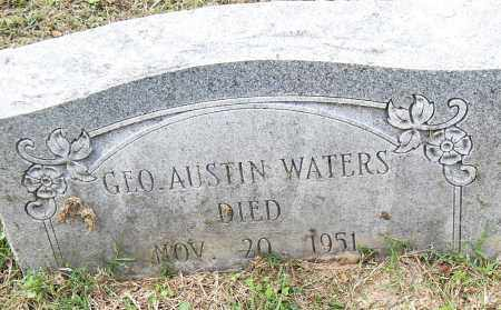 WATERS, GEORGE AUSTIN - Pulaski County, Arkansas | GEORGE AUSTIN WATERS - Arkansas Gravestone Photos