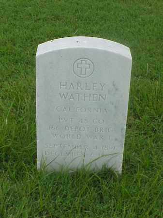 WATHEN (VETERAN WWI), HARLEY - Pulaski County, Arkansas | HARLEY WATHEN (VETERAN WWI) - Arkansas Gravestone Photos