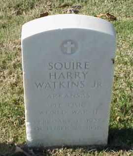 WATKINS, JR (VETERAN WWII), SQUIRE HARRY - Pulaski County, Arkansas | SQUIRE HARRY WATKINS, JR (VETERAN WWII) - Arkansas Gravestone Photos