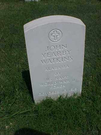 WATKINS (VETERAN 2 WARS), JOHN YEARBY - Pulaski County, Arkansas | JOHN YEARBY WATKINS (VETERAN 2 WARS) - Arkansas Gravestone Photos
