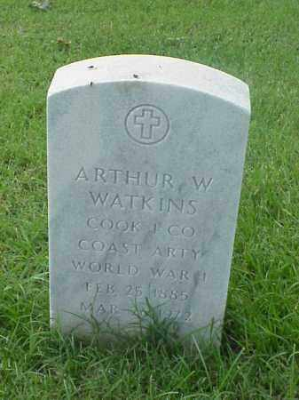 WATKINS (VETERAN WWI), ARTHUR W - Pulaski County, Arkansas   ARTHUR W WATKINS (VETERAN WWI) - Arkansas Gravestone Photos
