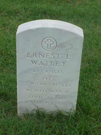 WATLEY (VETERAN WWII), ERNEST L - Pulaski County, Arkansas | ERNEST L WATLEY (VETERAN WWII) - Arkansas Gravestone Photos